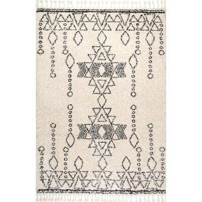 Ledger Off-White Area Rug Rug Size: Rectangle 53 x 77
