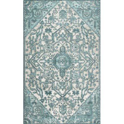 Chapple Hand-Woven Light Blue Area Rug Rug Size: Rectangle 76 x 96