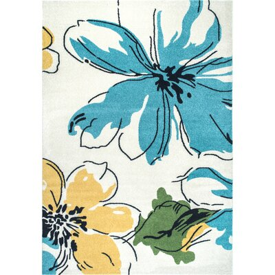 Zebrowski Yellow/Blue Area Rug Rug Size: Rectangle 8 x 10