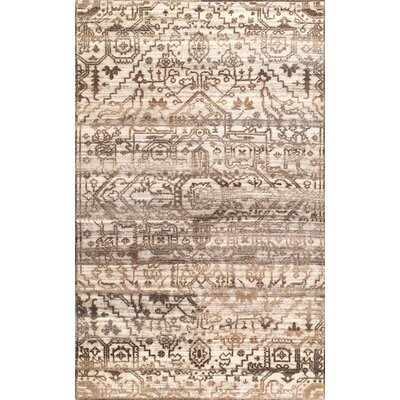 Charboneau Hand-Woven Wool Brown Area Rug Rug Size: Rectangle 76 x 96