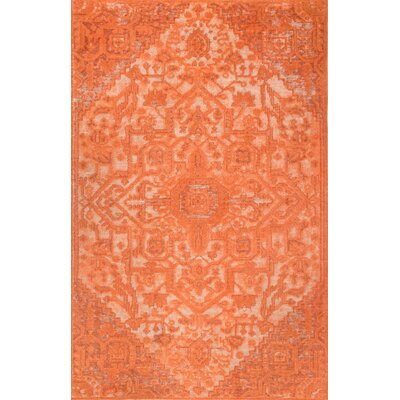 Chaput Hand-Woven Orange Area Rug Rug Size: Rectangle 76 x 96