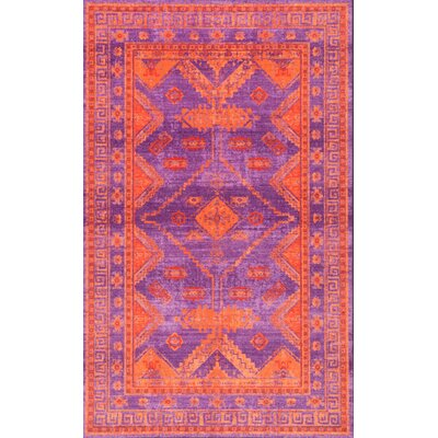 Channel Purple Area Rug Rug Size: Rectangle 5 x 8