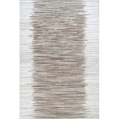 Castleford Hand Woven Gray Area Rug Rug Size: Rectangle 76 x 96