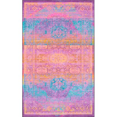 Chalmers Purple Area Rug Rug Size: Rectangle 5' x 8'