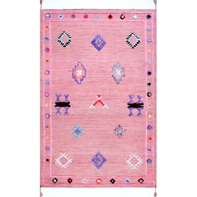 Chacon Hand-Tufted Pink Area Rug Rug Size: Rectangle 5 x 7