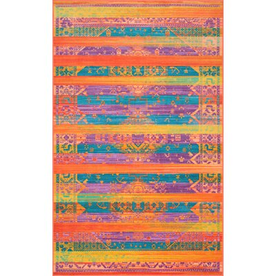 Durfee Yellow/Orange/Blue Area Rug Rug Size: Rectangle 8 x 10