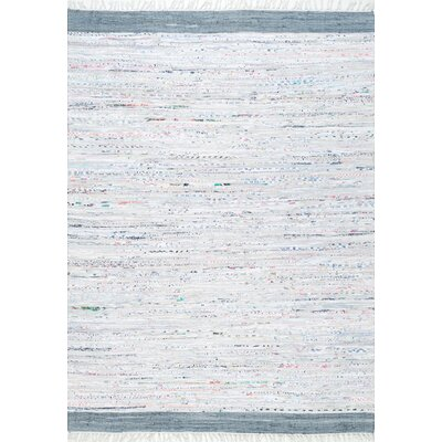 Linzy Cotton Gray Area Rug Rug Size: Rectangle 8 x 10