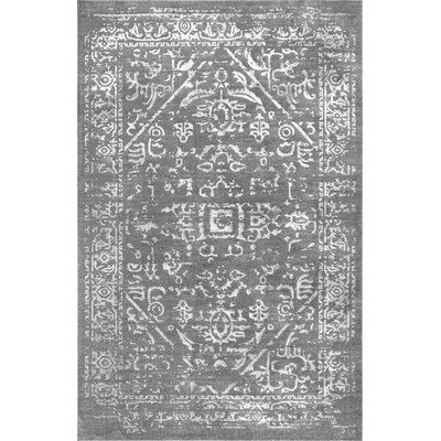 Cerna Dark Gray Area Rug Rug Size: Rectangle 53 x 77