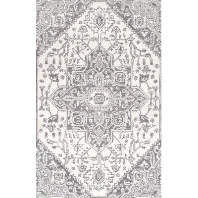 Chapdelaine Hand-Tufted Wool Gray Rug Rug Size: Rectangle 76 x 96
