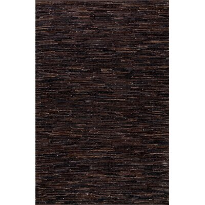 Olaughlin Hand-Woven Dark Brown Area Rug Rug Size: Rectangle 4' x 6'