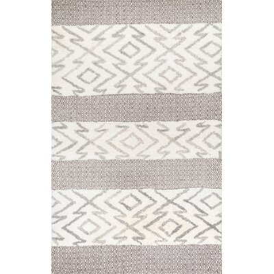Lolley Gray Area Rug Rug Size: Rectangle 76 x 96
