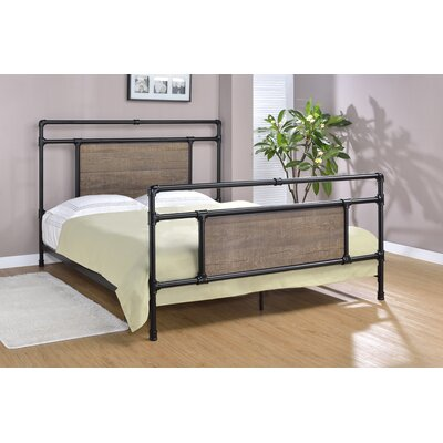 Letson Open-Frame Headboard Size: King, Color: Matte Black