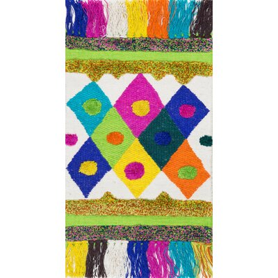 Duplantis Hand-Woven Yellow/Pink Area Rug Rug Size: Rectangle 2 x 3
