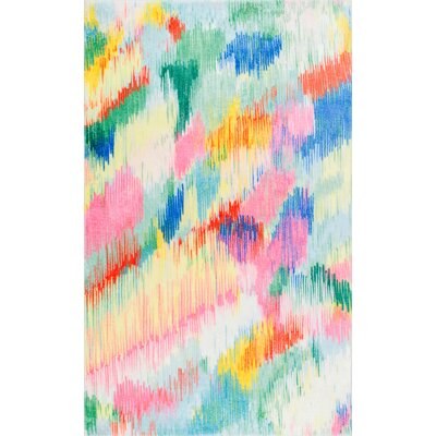 Rane Blue/Green/Pink Area Rug Rug Size: Rectangle 3 x 5