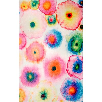 Ninave Pink/Green/Blue Area Rug Rug Size: Rectangle 7 x 9