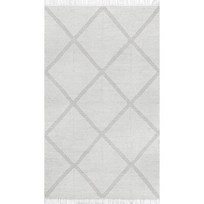 Lomas Wool Silver Area Rug Rug Size: Rectangle 76 x 96