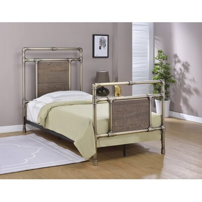 Letson Open-Frame Headboard Size: Twin, Color: Antique Brass
