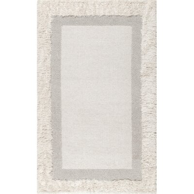 Lomawai Hand-Woven Beige Area Rug Rug Size: Rectangle 5 x 8