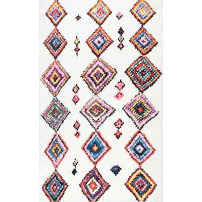 Cervantez Brown/Pink/Blue Area Rug Rug Size: Rectangle 7 x 9