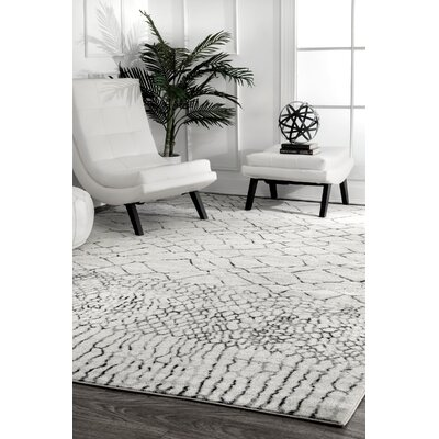 Canchola Light Gray Area Rug Rug Size: Rectangle 5 x 75