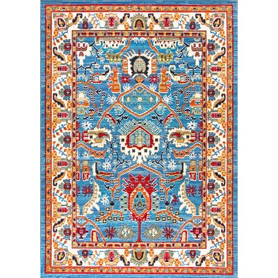 Chairez Blue Area Rug Rug Size: Runner 2 x 8