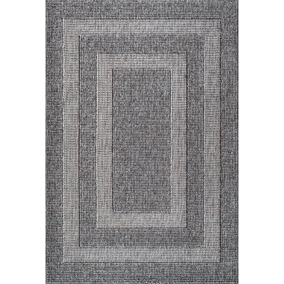 Teter Dark Gray Area Rug Rug Size: Rectangle 53 x 76