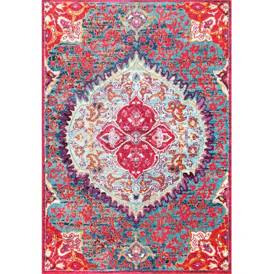 Chagoya Red Area Rug Rug Size: Rectangle 53 x 77