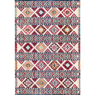 Chagnon Brown/Pink/Black Area Rug Rug Size: Rectangle 710 x 11