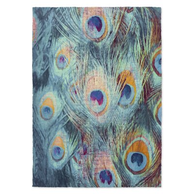 Dylan Feather Blue Area Rug Rug Size: Rectangle 5 x 7