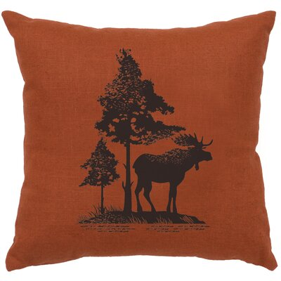 Nakagawa Moose Tree Throw Pillow Color: Paprika