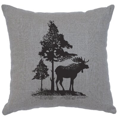 Nakagawa Moose Tree Throw Pillow Color: Gray