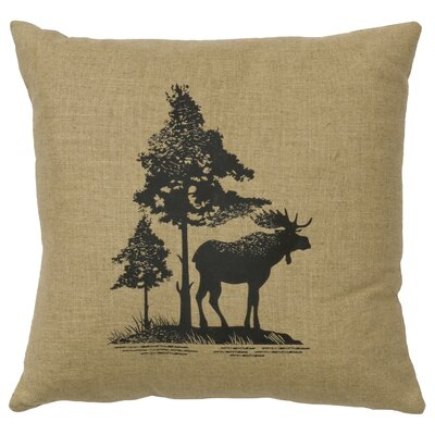 Nakagawa Moose Tree Throw Pillow Color: Straw