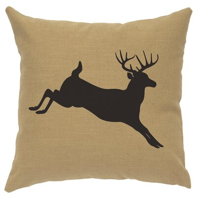 Nakayama Jumping Deer Throw Pillow Color: Straw