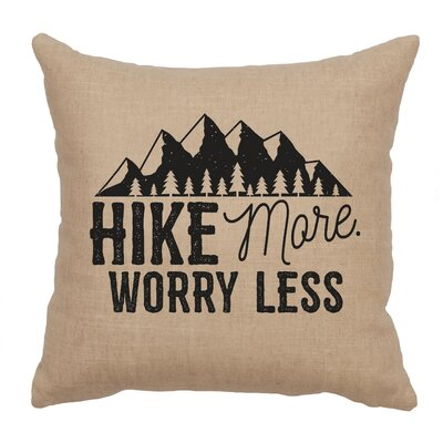 Barroso Hike More Throw Pillow Color: Natural
