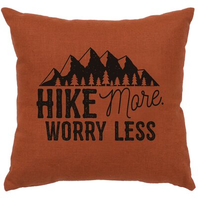 Barroso Hike More Throw Pillow Color: Paprika
