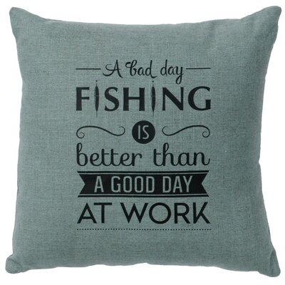 Neale Fishing Day Throw Pillow Color: Ocean
