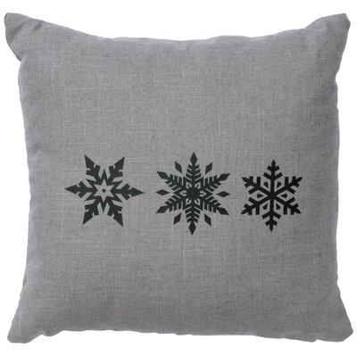 Leffel 3 Snowflakes Throw Pillow Color: Gray
