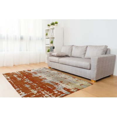 Chittum Orange Area Rug Rug Size: Rectangle 8 x 10