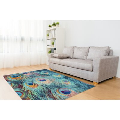 Dylan Feather Blue Area Rug Rug Size: Rectangle 2 x 3