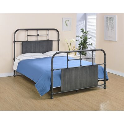Castellanos Metal Open-Frame Headboard Size: Full, Color: Antique Black