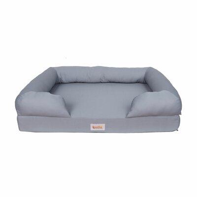 Memory Foam Dog Bed Bolster Size: 9 H x 36 W x 28 D