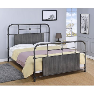Castellanos Metal Open-Frame Headboard Size: Queen, Color: Antique Black