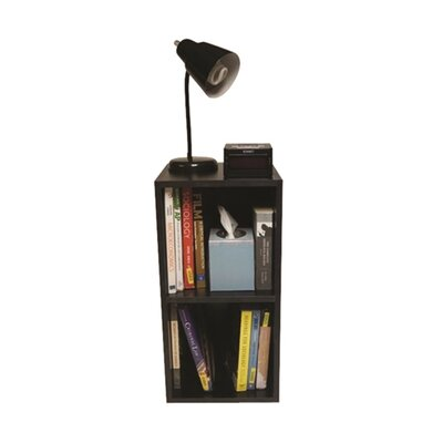 Althoff Cube Dorm Nightstand Color: Black