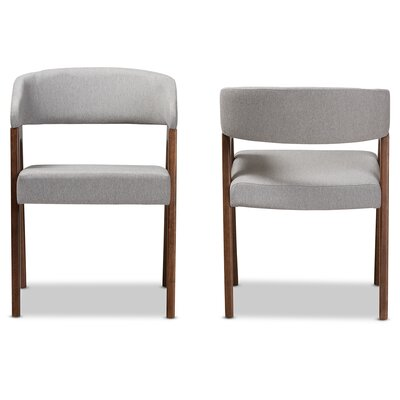 Widener Upholstered Dining Chair Upholstery Color: Light Gray