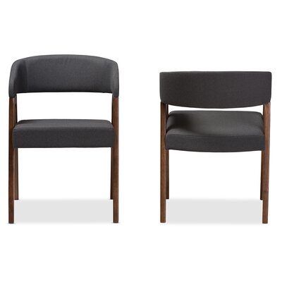 Widener Upholstered Dining Chair (Set of 2) Upholstery Color: Dark Gray