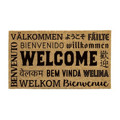 Feldt Welcome Neighbor Coir Doormat