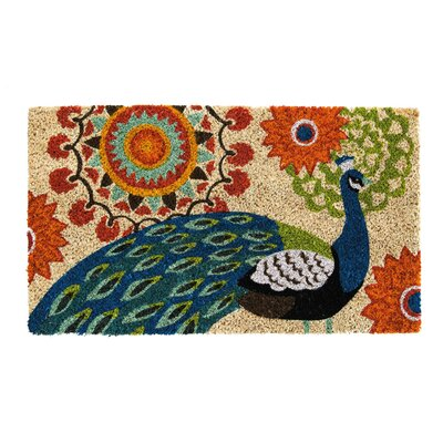 Feldt Proud Peacocks Coir Doormat