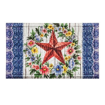 Borrero Summer Country Star Embossed Doormat