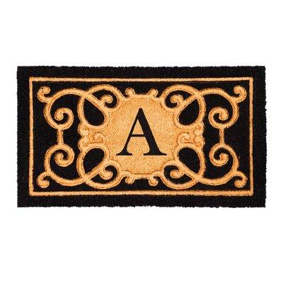 Columbard Debossed Monogram Coir Doormat Letter: A