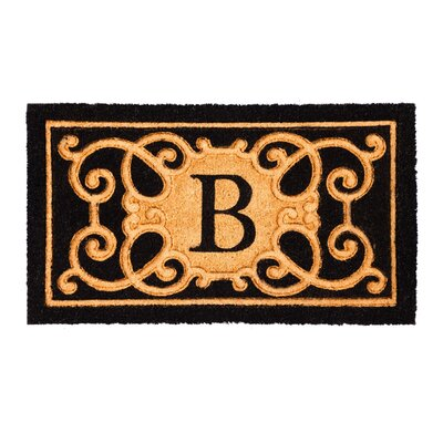 Columbard Debossed Monogram Coir Doormat Letter: B